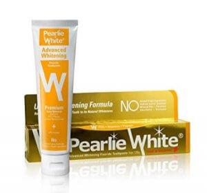 4. Pearlie White Advanced Whitening Fluoride Toothpaste