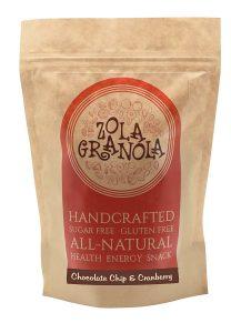 8. Zola Granola Chocolate Chip & Cranberry