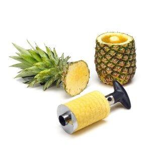 9. Vmoni Stainless Steel Pineapple & Fruit Cutter Slicer