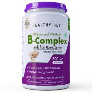 10.HealthyHey Nutrition Natural Vitamin B Complex