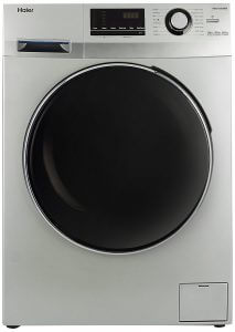 10. Haier 6.5 kg Fully-Automatic Front Loading Washing Machine (HW65-B10636NZP, Titanium Grey)