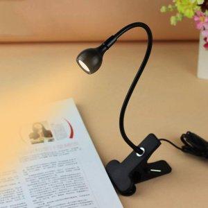 10. Rrimin USB Flexible Reading LED Light Clip-on Beside Bed Table Desk Lamp