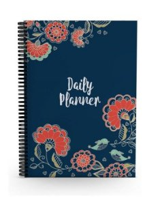 7.Alter Ego Floral Minimalist Daily Planner