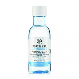 2. The Body Shop Camomile Waterproof Eye and Lip Make-Up Remover