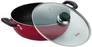 7. Vinod Cookware Zest Induction Bottom Kadhai with Lid