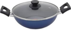 3. Pigeon Essentials Induction Kadhai with Lid