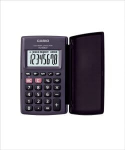 6. Casio HL820LV Portable Calculator