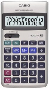 3. Casio HL-122TV Silver Basic Calculator