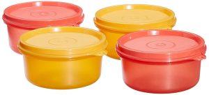 10. tupperware tropical plastic set