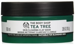 1.The Body Shop Tea Tree Skin Clearing Clay Mask