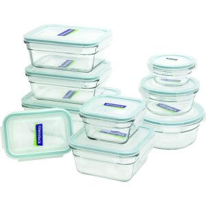 Durable, Easy-to-Clean, and Microwaveable Glass Containers