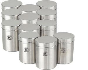 Sturdy, Long-Lasting, and Easy-to-Handle Stainless Steel Containers