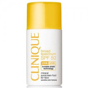 10. Clinique SPF 50 Mineral Sunscreen Fluid