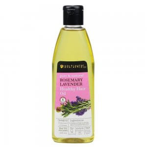3. Soulflower Rosemary Lavender Healthy Hair Oil