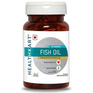 7. Healthkart Fish Oil 1000 mg Omega-3 Capsules