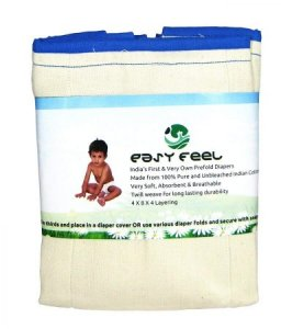 4. Easy Feel Unbleached Cotton Prefold Diapers