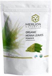8. MERLION NATURALS Organic Henna Leaves Powder