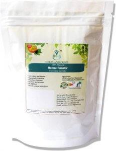 5. Herbs and Crops Natural Henna Powder