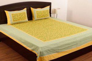 6. SheetKart Grace 160 TC Double Bed Sheet