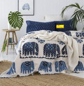 7. FAB NATION Cotton Bed Sheet