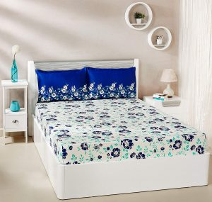 1. Solimo Jasmine Zest Double Bed Sheet