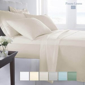 2. Pizuna Linens Elastic Fitted Bed Sheet