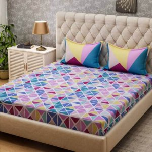 8. Bombay Dyeing 120 TC Double Bed Sheet