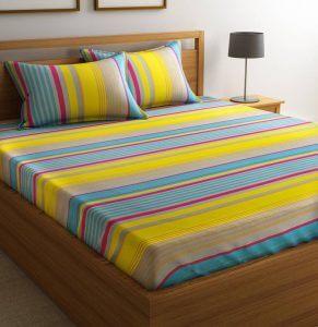 4. Flipkart SmartBuy 144 TC Bed Sheet