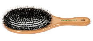 6. GranNaturals Boar Bristle Porcupine Style Brush