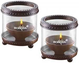 4. Borosil Decorative Diya Lights
