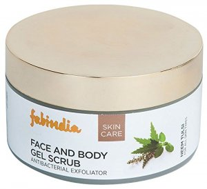9. Fabindia Neem Tulsi Face and Body Scrub