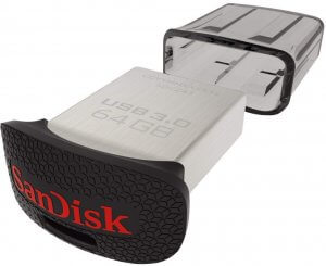 9. SanDisk Ultra Fit 64GB USB 3.0 Pen Drive