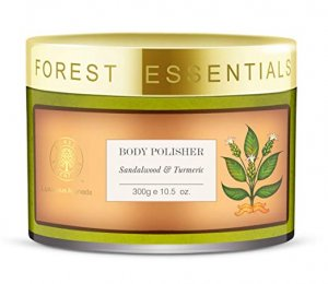 2. Forest Essentials Body Polisher Sandalwood and Turmeric